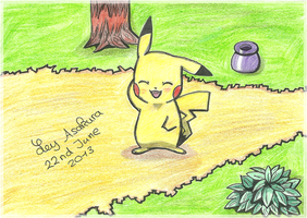Pikachu Fan Art by LeyAsakura