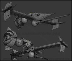 Swordfish II finished wire by MikeDastardly