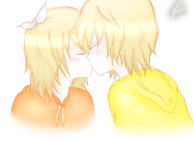 Rin/Len Kiss - Requested by ShinichiLen