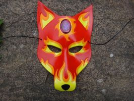 Fire Wolf leather mask by Masktastic