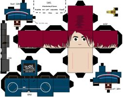 Gerard Way / Party Poison [PAPERCRAFT] by paramonsterr