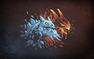 Jakiro Dota 2 - 'Fire and Ice' by swadeart