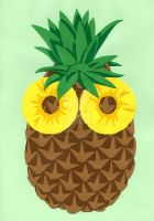 Scared Ananas by LechuguitaReverde
