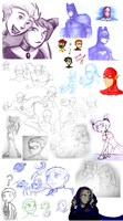 Epic DC Doodles of Doom by Sockless-Sheep