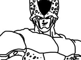 Perfect Cell Outline by Michael-J-Caboose