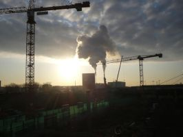 An industrial morning by clarinetman91