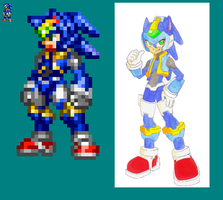 Reploid sonic sprite by Darkzerok