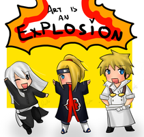 ART IS AN EXPLOSION by AkatsukiSecret