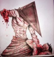 Pyramid Head heheheeeee by D-A-G-A