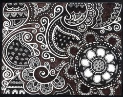 Dark doodle-swirly-abstract by yael360