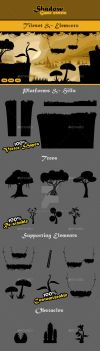 Shadow Game Assets: Tileset and Obstacles by sktdesigns