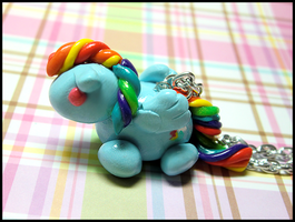 Chubby Rainbow Dash Necklace by GrandmaThunderpants