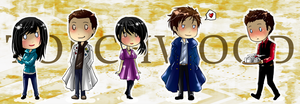 Torchwood chibis by BlackMayo