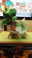 Pokemon Torterra Papercraft 6 by devastator006