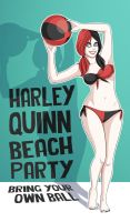 Harley Quinn Beach Ball by Costalonga