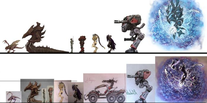 StarCraft to Scale, old vs. new by xiaorobear