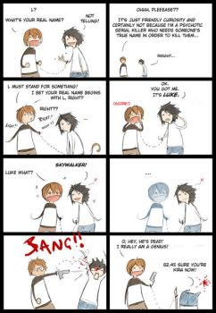 L and Light from Death Note by MCRmey