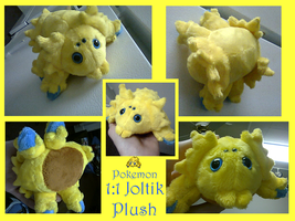Joltik Plush by methuselah-alchemist
