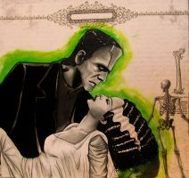 Frankenstein and his Bride. by Darxen
