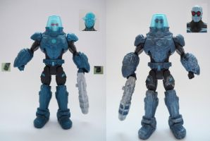 Mr. Freeze Custom Action Figure before and after by Jedd-the-Jedi
