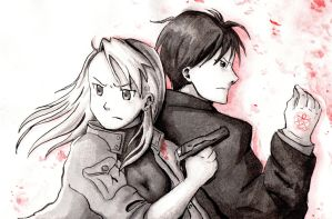 Roy and Riza by Camaryllis