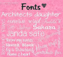 Pack De Fonts by Wordofphoto