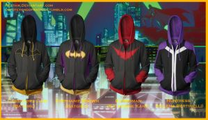 Bat Ladies! Batgirls/Batwoman/Huntress Hoodies by prathik
