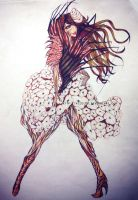 Nature inspired fashion design 3 by nilec88
