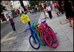 Colourful Bikes by VincentLillis