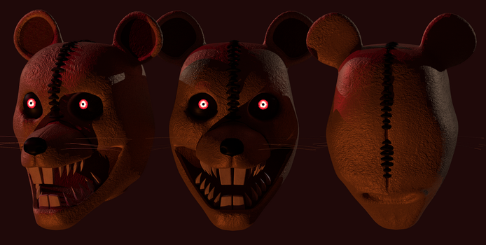Nightmare Rat Head by NOIRESD
