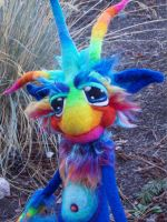Rainbow Wobbly Pop Goblin by Tanglewood-Thicket