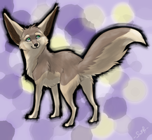fennec foxling by shelzie