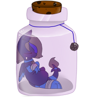 Bottle commission 1 by YingerySharpclaws