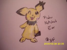 Pichu Notched Ear by buizelfight