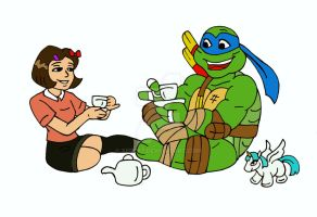 TMNT: Tea Time With Leonardo by xero87