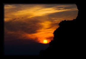Lazy mountains sunset by joffo1