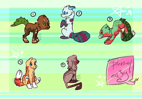 Free Adoptables Batch 35 by Petit-Pets