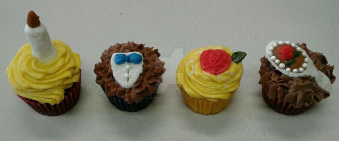 Tale as Old As Time Mini Cupcakes by InkArtWriter