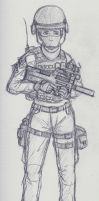 Mobile Task Force Operator sketch by NDTwoFives