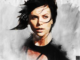 Charlize Theron as Aeon Flux by nicollearl