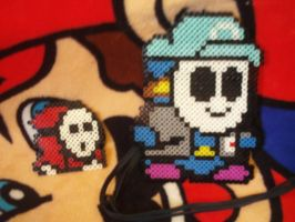 My Shy Guy Bead Perlers by MarioSimpson1
