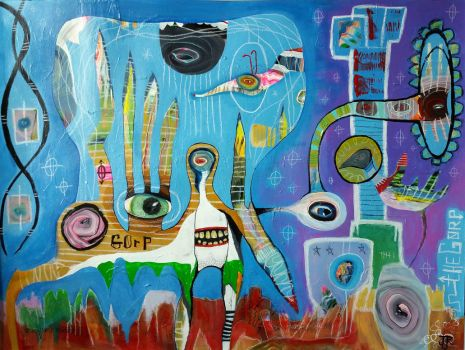 Outsider Art Painting: The Gorp by bugatha1