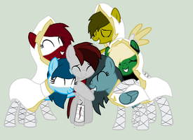 Alex and his new friends(400th devation :D) by Ask-Flare22