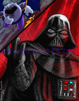 MetaKnight vs Darth Vader by PurpleRAGE9205
