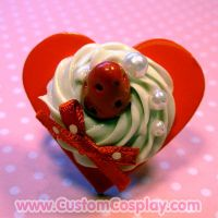 Red sweet heart ring by The-Cute-Storm