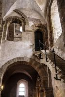 Old Monastery and Church 1 Conques. Aveyron. Fr. by jennystokes
