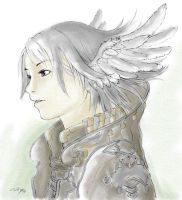 Aki- My 1st water colour. by Icewiing