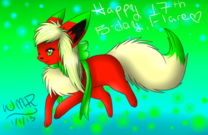Happy 17th birthday, Flare~! by SnowLilies