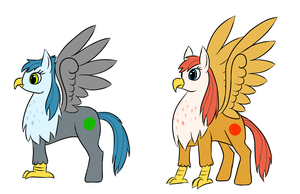 MLP style HippoGriff by StormCrow-42