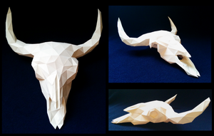 Buffalo Skull Papercraft by Gedelgo